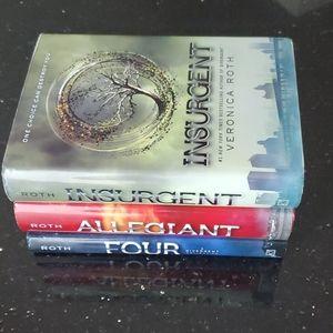 Veronica Roth Books Insurgent, Allegiant, Four